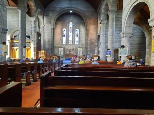 Photo inside the church during a post-lockdown service