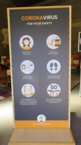 Photo of pull up banner
