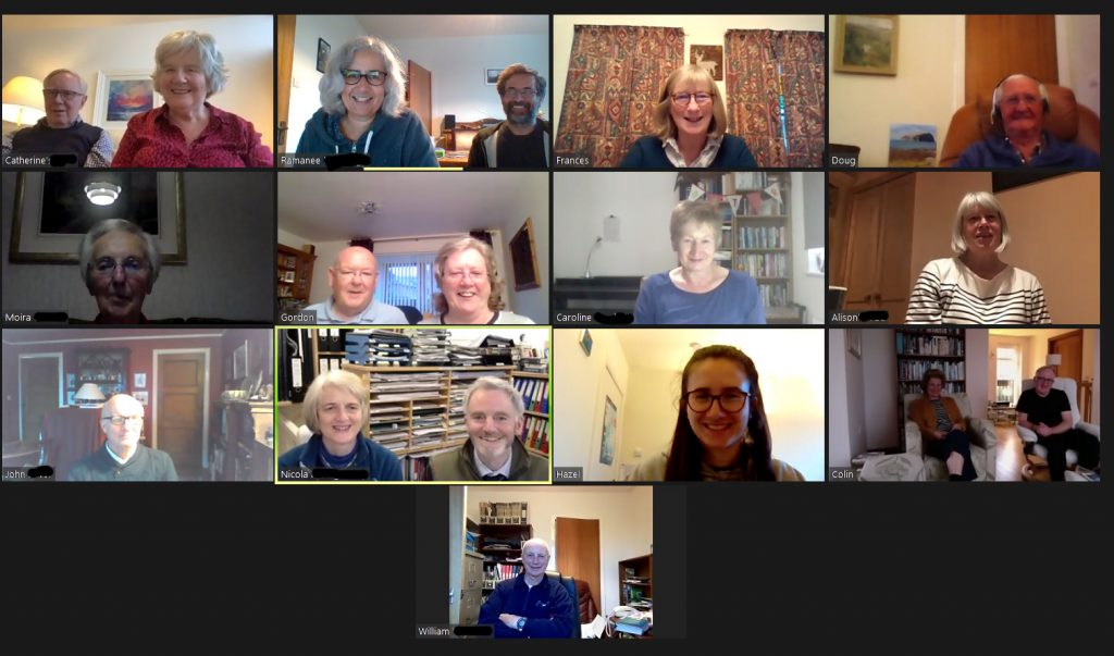Photo taken from zoom with the bible study participants