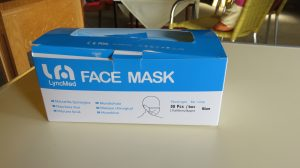 Photo of box of face masks
