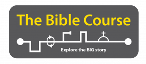 Logo for The Bible Course with the sub heading Explore the big story