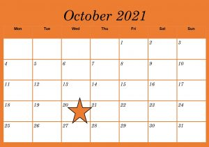 calendar showing Oct 2021, with 20th highlighted